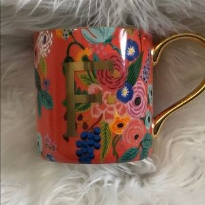 Anthropologie F coffee mug